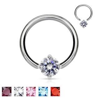 Piercing - kruh s ozdobným kamenem