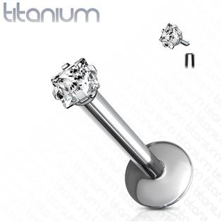 Piercing do brady - labreta titan čtverec, 1,2 x 8 mm