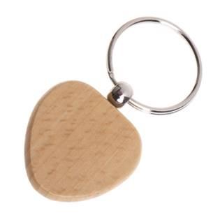 Dřevěný přívěšek na klíče - srdíčko