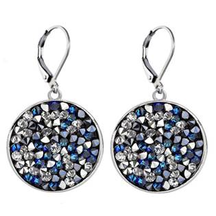 Náušnice s krystaly Crystals from Swarovski® BERMUDA BLUE PEPPER