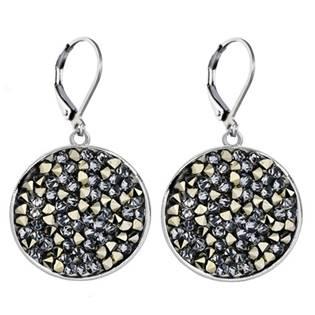 Náušnice s krystaly Crystals from Swarovski® GOLDEN CHOCOLATE