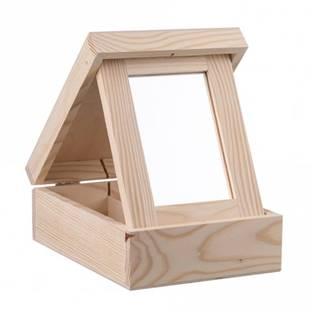 Dřevěná šperkovnice se zrcátkem