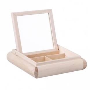 Dřevěná krabička - šperkovnice se zrcátkem