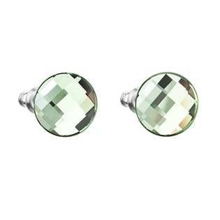 Šroubovací náušnice s krystaly Crystals from Swarovski®, Chessboard Green