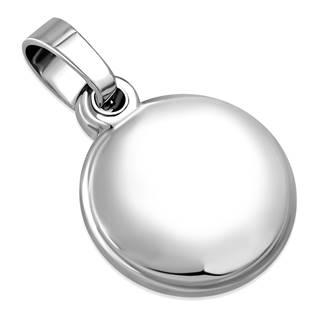 Ocelový přívěšek - mini kulatá  průměr 13 mm