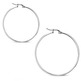 Ocelové náušnice - kruhy 51 mm, tl. 3 mm