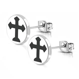 Ocelové náušnice - kříže