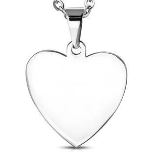 Ocelový přívěšek srdce 25 x 27mm