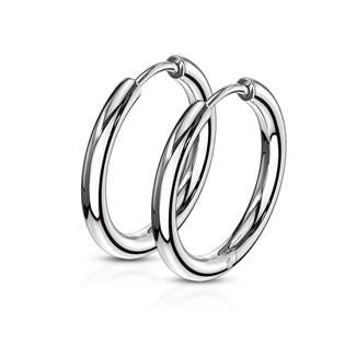 Ocelové náušnice - kruhy 17 mm