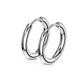 Ocelové náušnice - kruhy 15 mm