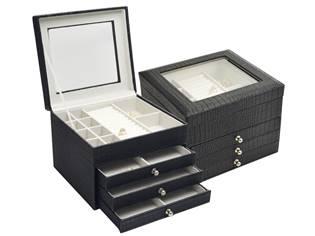 Šperkovnice - černá koženka