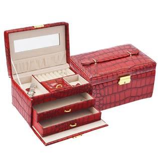 Šperkovnice - červená koženka