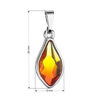 Přívěsek bižuterie se Swarovski krystaly oranžová kapka, Fire Opal