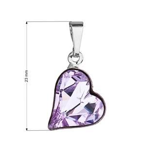 Přívěsek bižuterie se Swarovski krystaly, Violet