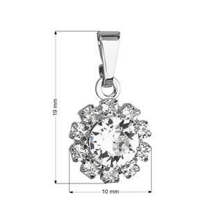 Přívěsek bižuterie se Swarovski krystaly bílá kytička