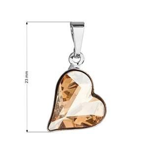 Přívěsek bižuterie se Swarovski krystaly, Golden Shadow