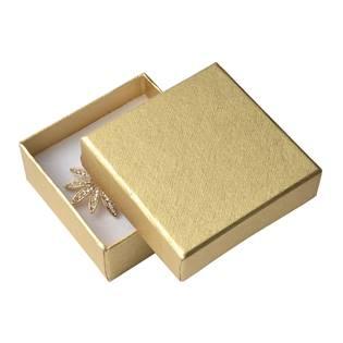 Krabička na soupravu šperků - zlatá