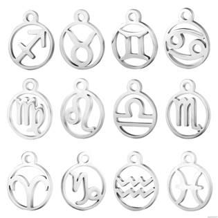 Drobný kulatý ocelový přívěšek - znamení horoskopu