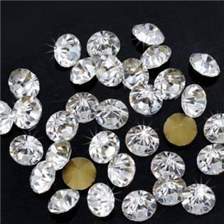 Skleněný šaton SS16 - 4 mm, 10ks/bal., Crystal