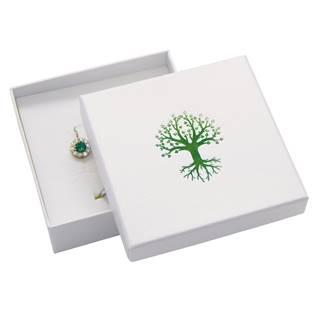Dárková krabička na soupravu, zelený strom života