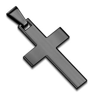 Černý ocelový přívěšek - kříž
