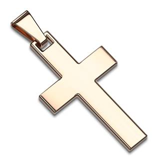 Zlatý ocelový přívěšek - kříž