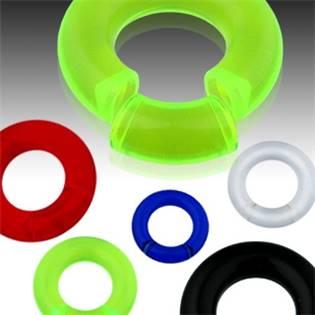 Piercing - segment kruh 5x26 mm, barva červená