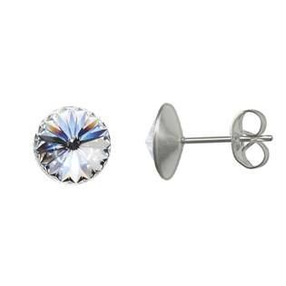 Ocelové náušnice Crystals from Swarovski® 6mm, CRYSTAL