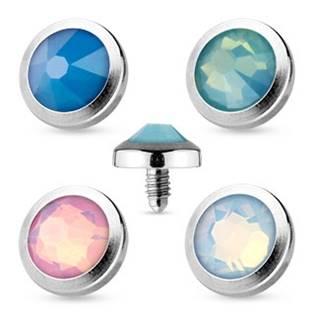 Microdermal piercing - opalit 4 mm