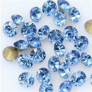 Skleněný šaton SS12 - 3,2 mm, 10ks/bal., Light Sapphire