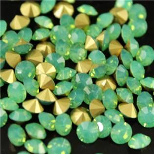Skleněný šaton SS12 - 3,2 mm, 10ks/bal., Green Opal