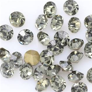 Skleněný šaton SS12 - 3,2 mm, 10ks/bal., Black Diamond