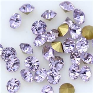 Skleněný šaton SS12 - 3,2 mm, 10ks/bal., Violet
