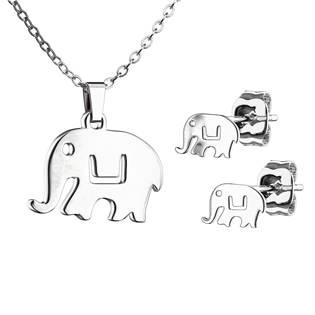Set šperků z chirurgické oceli, sloníci