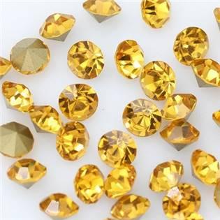 Skleněný šaton SS16 - 4 mm, 10ks/bal., Gold