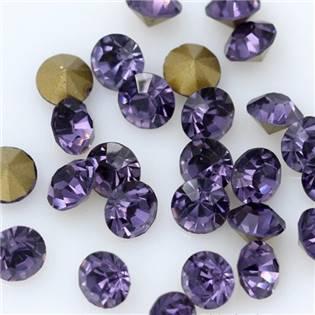 Skleněný šaton SS16 - 4 mm, 10ks/bal., Dark Violet