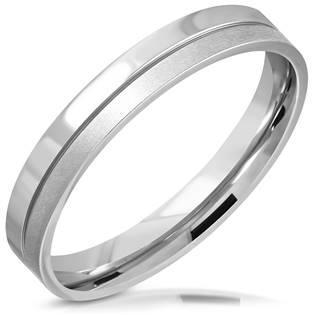 Ocelový prsten šíře 3,5 mm