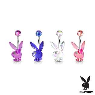Akrylátový piercing do pupíku, zajíček Playboy