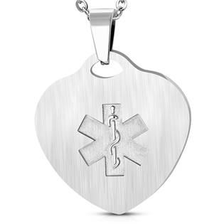 Ocelová destička srdce - lékařský symbol hvězda života