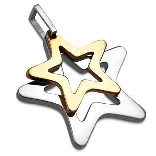Ocelový přívěšek - hvězdička