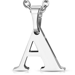 Ocelový přívěšek - iniciála A