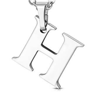 Ocelový přívěšek - iniciála H
