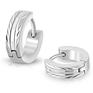 Ocelové náušnice kroužky