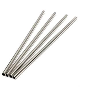 Rovné ocelové brčko (1ks)