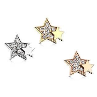 Microdermal s hvězdami - ozdobná část