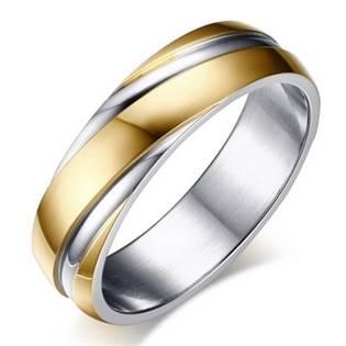 Ocelový prsten, šíře 6 mm, vel. 52