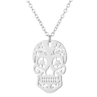 Stříbřený náhrdelník - lebka