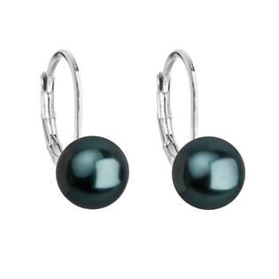 Náušnice bižuterie s černou Swarovski perlou