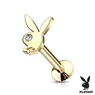 Zlacená labreta Playboy, tyčka 1,2 x  mm