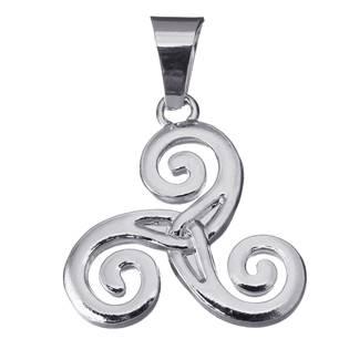 Ocelový přívěšek - keltský triskelion symbol